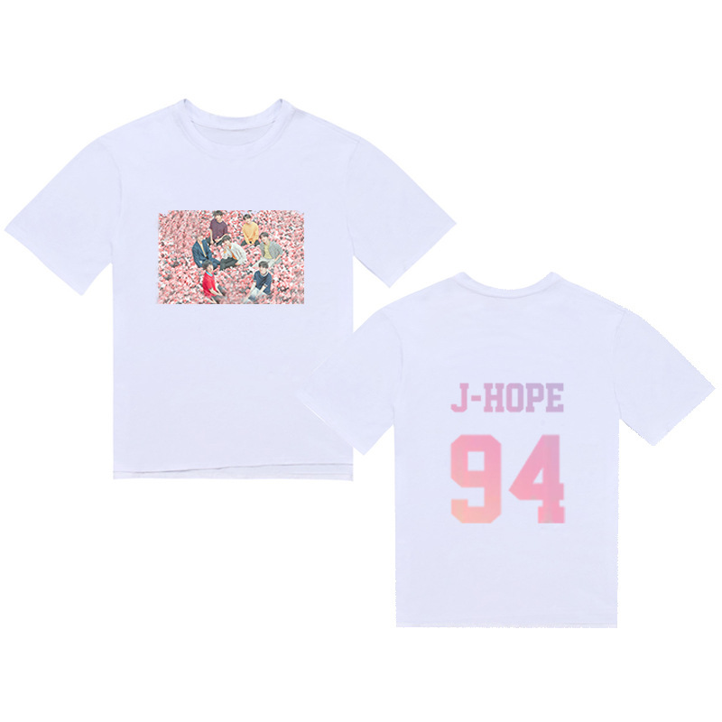 BTS Related BTS T-shirt World Concert Tour Celebrity Inspired Related Candy-Colored Men's And Women's Summer Short Sleeved T-shi