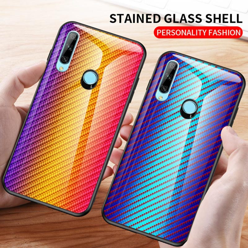 <font><b>Case</b></font> For <font><b>Huawei</b></font> Y9 Prime Y7 Y6 <font><b>Y5</b></font> 2019 <font><b>2018</b></font> <font><b>Cases</b></font> Luxury Fiber Tempered Glass Cover for <font><b>Huawei</b></font> Honor 8X 8A 20 Pro 10 Lite <font><b>Case</b></font> image