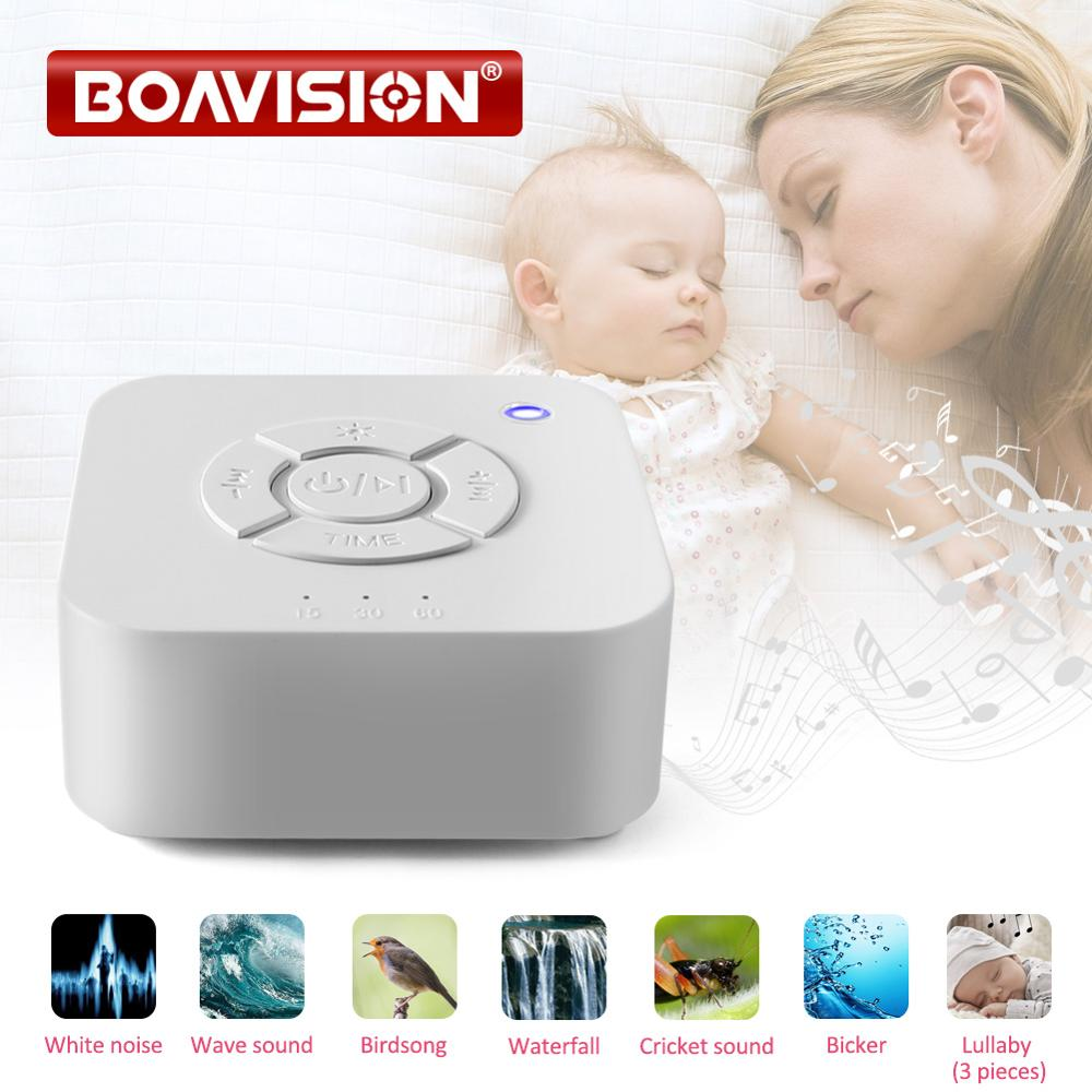 Baby Monitor White Noise Machine USB Rechargeable Timed Shutdown Sleep Sound Machine Sleeping Relaxation For Baby Adult Office