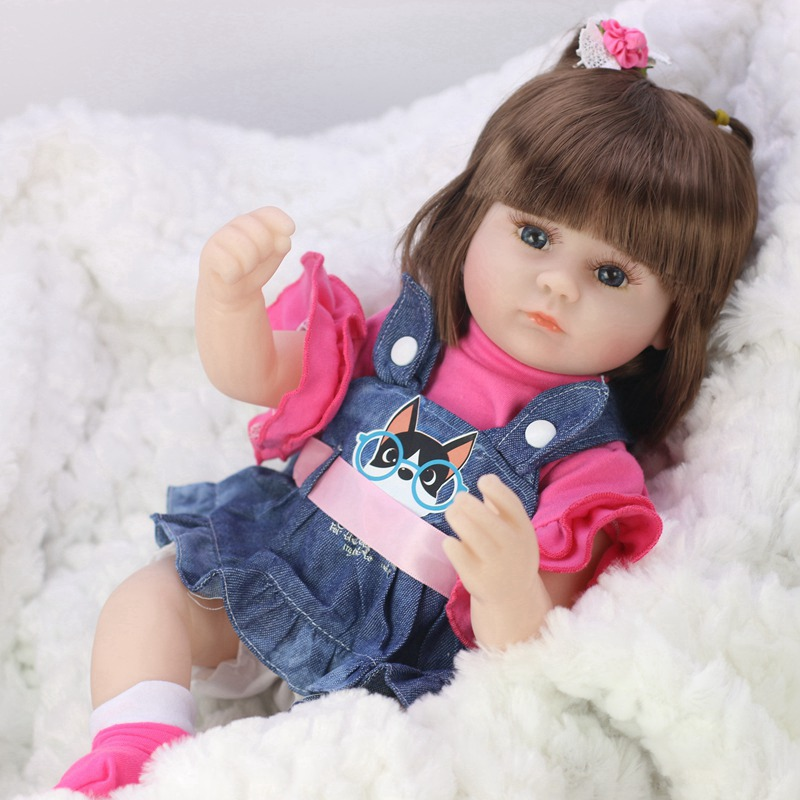 42 CENTÍMETROS Renascido Do Bebê Bonecas Brinquedos Para Meninas Boneca Reborn Vinil Dormir Acompanhar Belo Presente de Aniversário Brinquedos