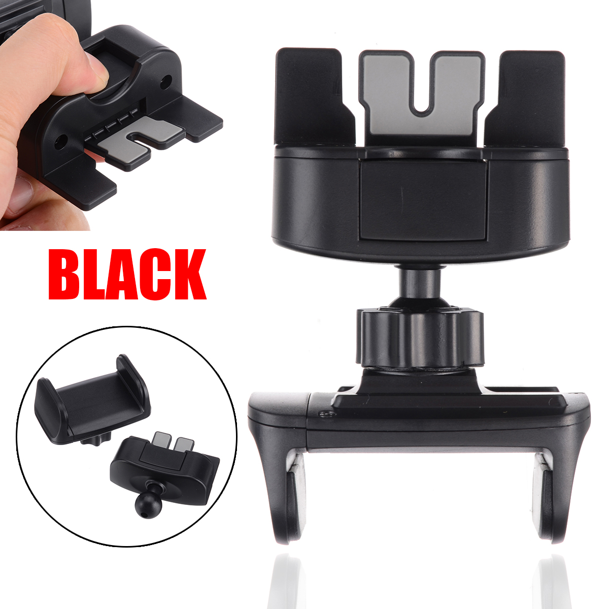Newest Universal Portable Car CD Slot Phone Mount Holder Stand For Samsung Galaxy S10e S10 S9 S8 Plus For Mobile Cell Phone