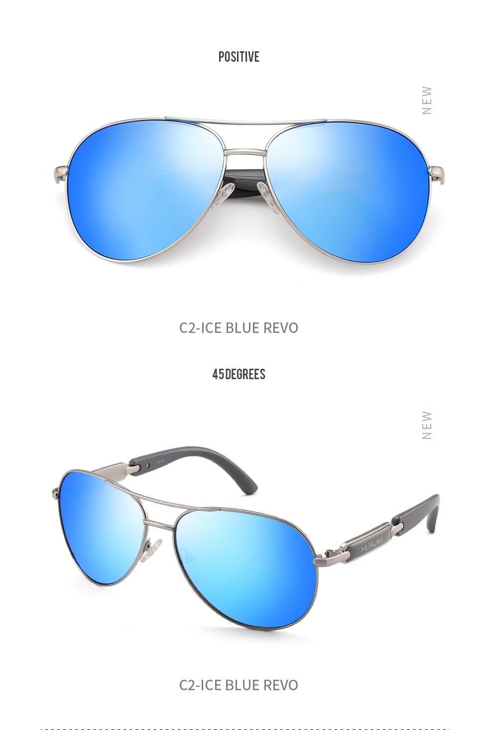 H14c93a18536d426e9ba6ecdf7a449df3F FENCHI Polarized Sunglasses Women Vintage Brand Glasses Driving Pilot Pink Mirror sunglasses Men ladies oculos de sol feminino
