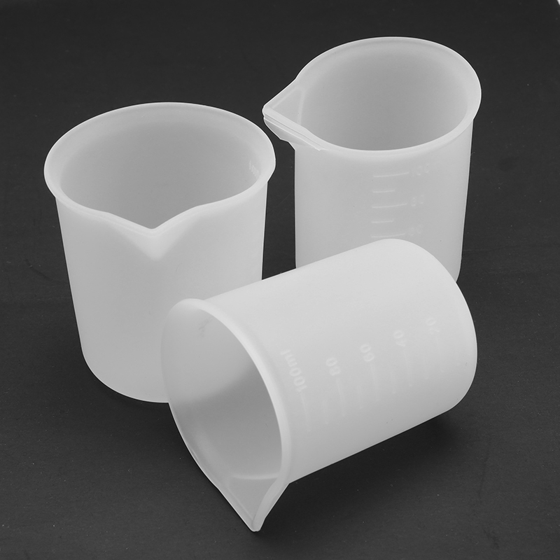 3pcs/set 100ml Silicone Measuring Cup Resin Glue Tools Cup DIY Jewelry Making Handmade Craft Accessories