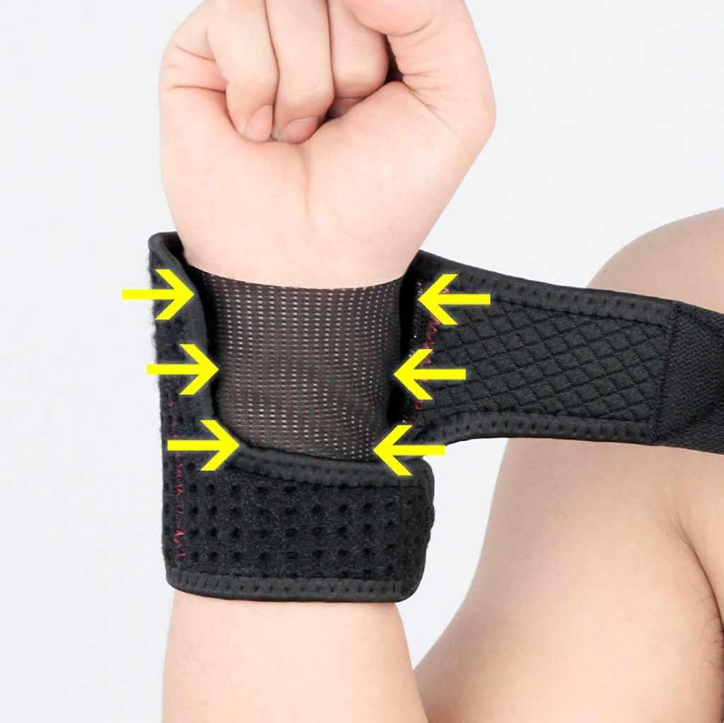 1 piezas ajustable pulsera elástica transpirable envolturas de muñeca vendas de levantamiento de pesas, soporte de muñeca gimnasio deportes # c