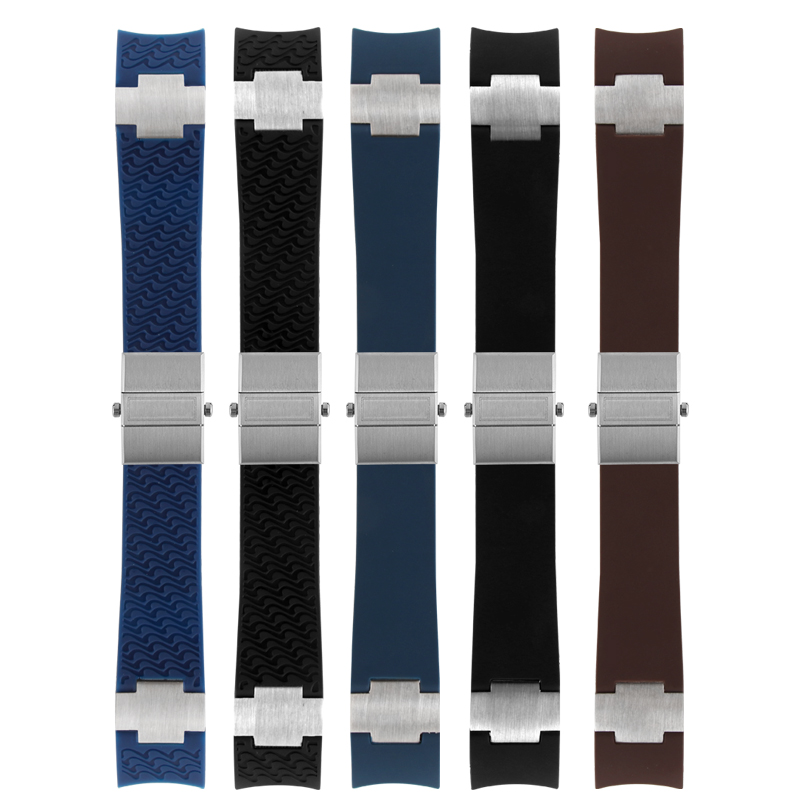 22-20mm Black Brown Blue Waterproof Silicone Rubber Wrist Watch Band Strap Belt For Nardin MARINE DIVER Sports Watch accessories