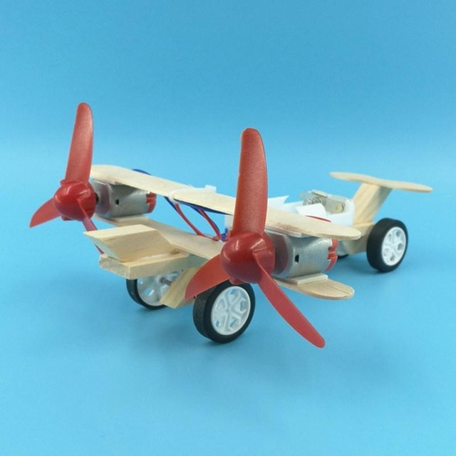 Creative Electric Taxiing Plane Small Production DIY Small Invention Children's Handmade Materials Popular Science Model Gift 2