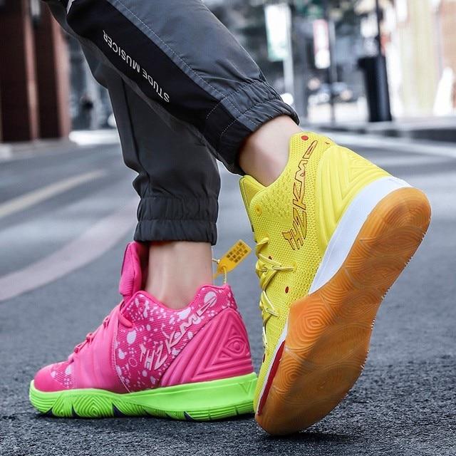 Zapatillas de deporte de alta calidad para hombre y mujer, Zapatos de baloncesto transpirables de malla, deportivas de superestrella para parejas 4