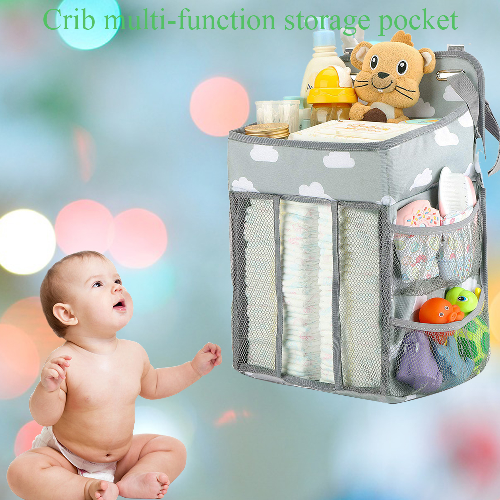 Nursing Portable Foldable Dual Layer Baby Bed Home Storage Bag Diaper Stacker Hanging Multi Function Organizer Gift Bedroom