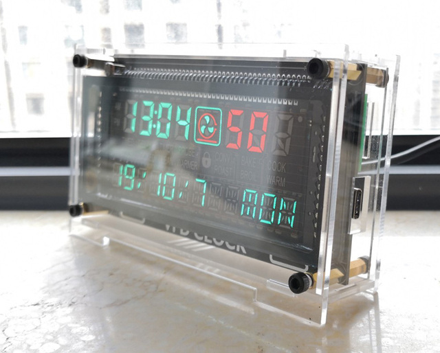12 / 24 hour High Precision VFD clock Electronic time RX8025T VFD display Hour / minute / second /day / week LED Uhr