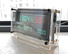 Reloj VFD de alta precisión de 12 / 24 horas, reloj electrónico RX8025T, pantalla VFD, hora/minuto/segundo/día/semana, LED Uhr