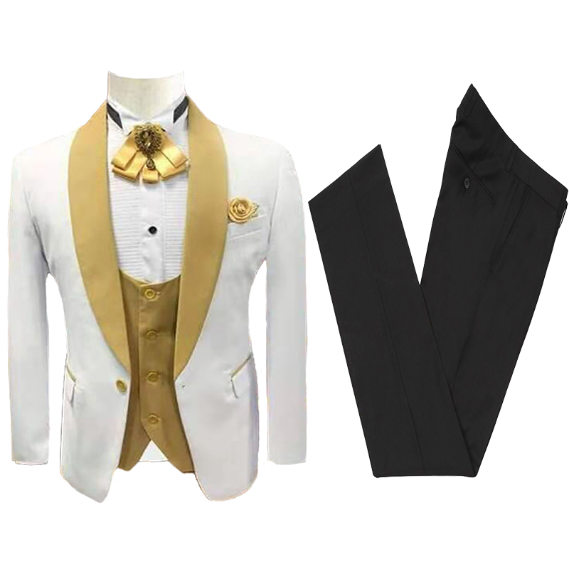Men Suit Wedding Suits Slim Fit Tuxedo Groom Groomsman Best Man Terno Masculino Slim Fit Jacket Pant Vest Mens Suits With Pants