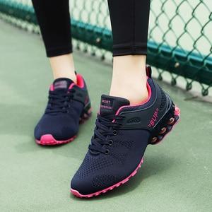 Women Shoes Fashion 2020 Breathable Walk Mesh Flat Casual Shoes Lady Sneakers Women Badminton Shoes Lady Mesh Summer Shoes