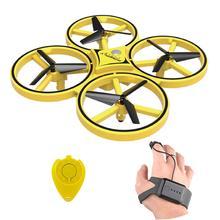 ZF04 Радиоуправляемый Дрон Мини Инфракрасный индукционный ручной контроль Дрон удерживающий высоту 2 управляющие Леры Квадрокоптер для детей игрушка в подарок