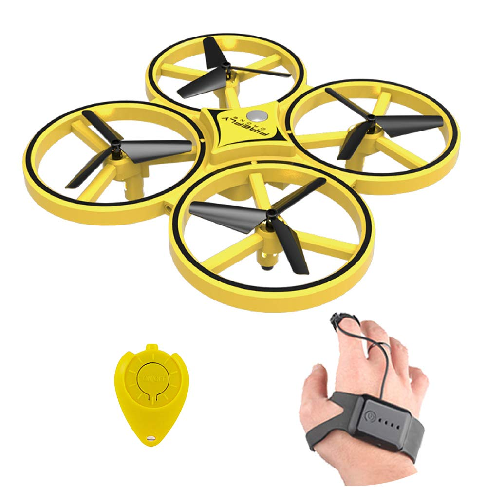 ZF04 RC Drone Mini Infrared Induction Hand Control Drone Altitude Hold 2 Controllers Quadcopter for Kids Toy Gift(China)
