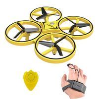 Zf04 rc drone mini infravermelho controle de mão  drone com indução de altitude  2 controles de agarre  quadricóptero para crianças  brinquedo para presente