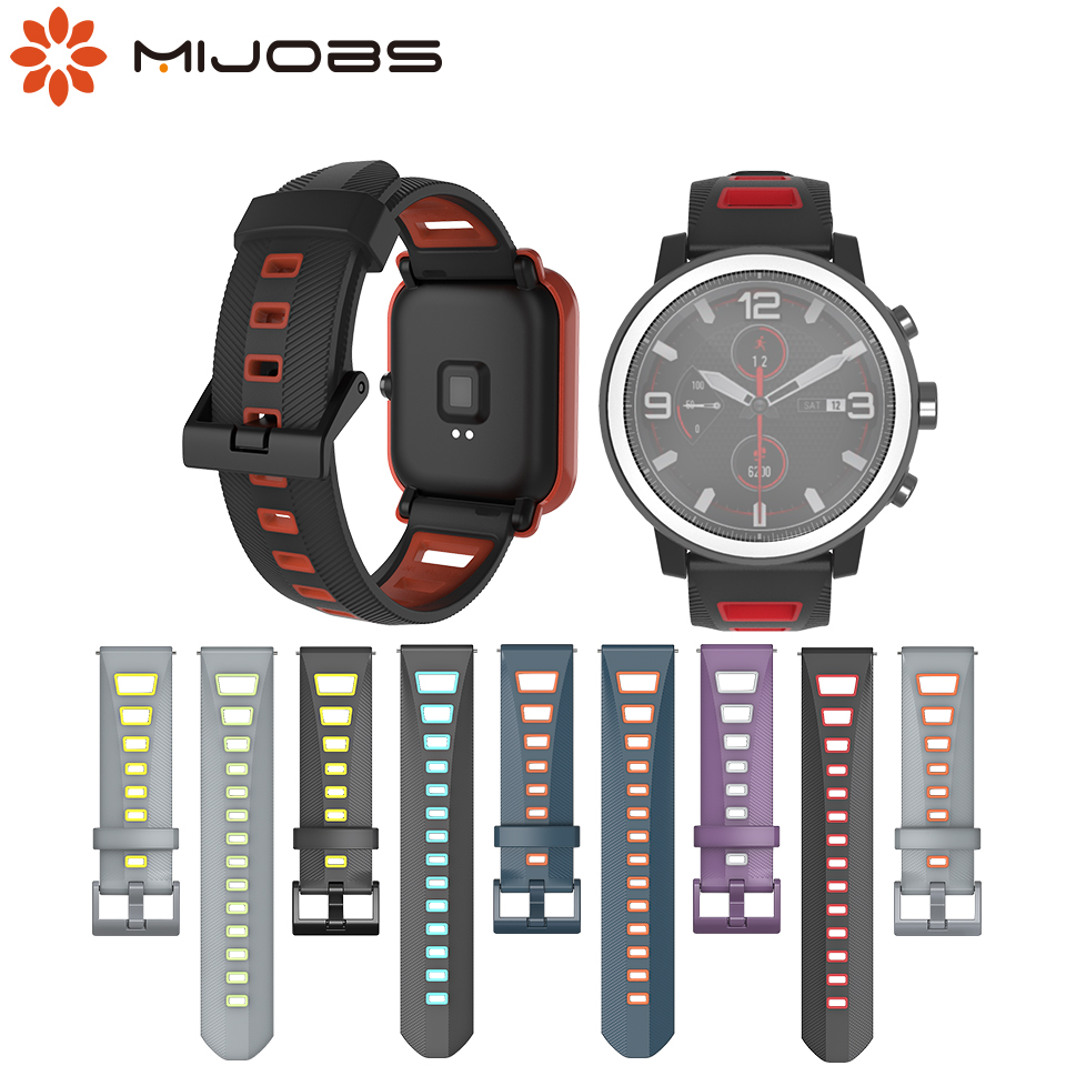 Strap Bracelet For Amazfit Bip/GTS/GTR/Stratos Pace 2 Wearable Wrist Strap 20/22mm For Huami Amazfit Smart Watch Wristbands