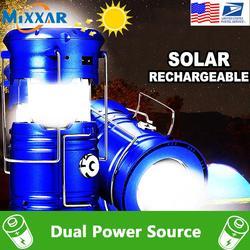 Led-фонарь EZK20, складные фонарики для кемпинга с солнечной батареей, оборудование для наружного туризма, чрезвычайных ситуаций