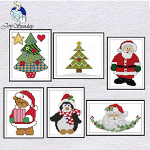 Joy Sunday Merry Christmas cross stitch kits 14CT pattern DMC Printed Chinese embroidery needlework set Decoration for home sets(China)