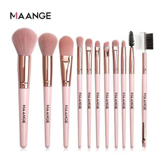 MAANGE Makeup Brushes Pro Pink Brush Set Powder EyeShadow Blending Eyeliner Eyelash Eyebrow Make up Beauty Cosmestic Brushes 1