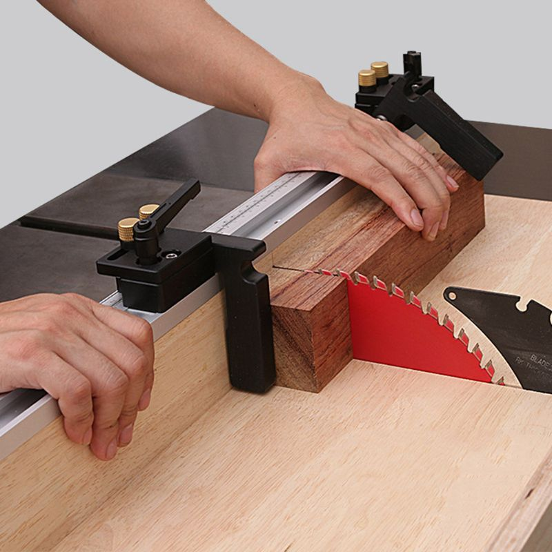 45 Type T Track Miter Track Stop For T-Slot T-Tracks Stop Chute Limiter Locator Woodworking DIY Manual Durable Tool In Use