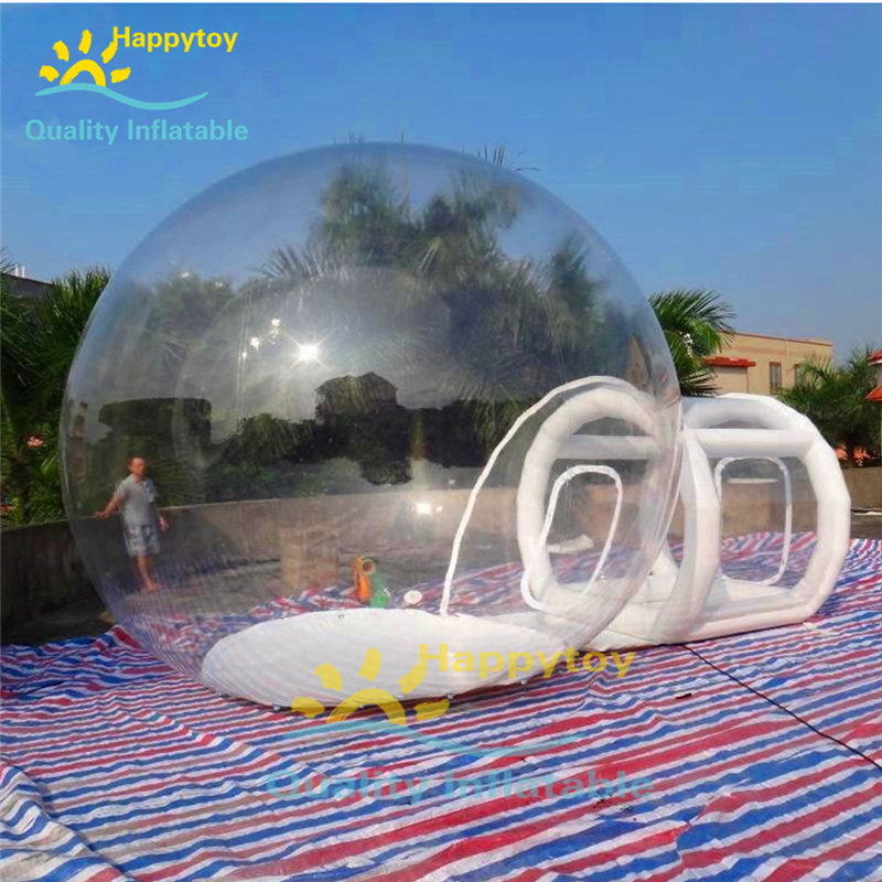 PVC Air Outdoor Camping Tent Luxury Hotel Inflatable Transparent Camping Tent Bubble Tent For Salee