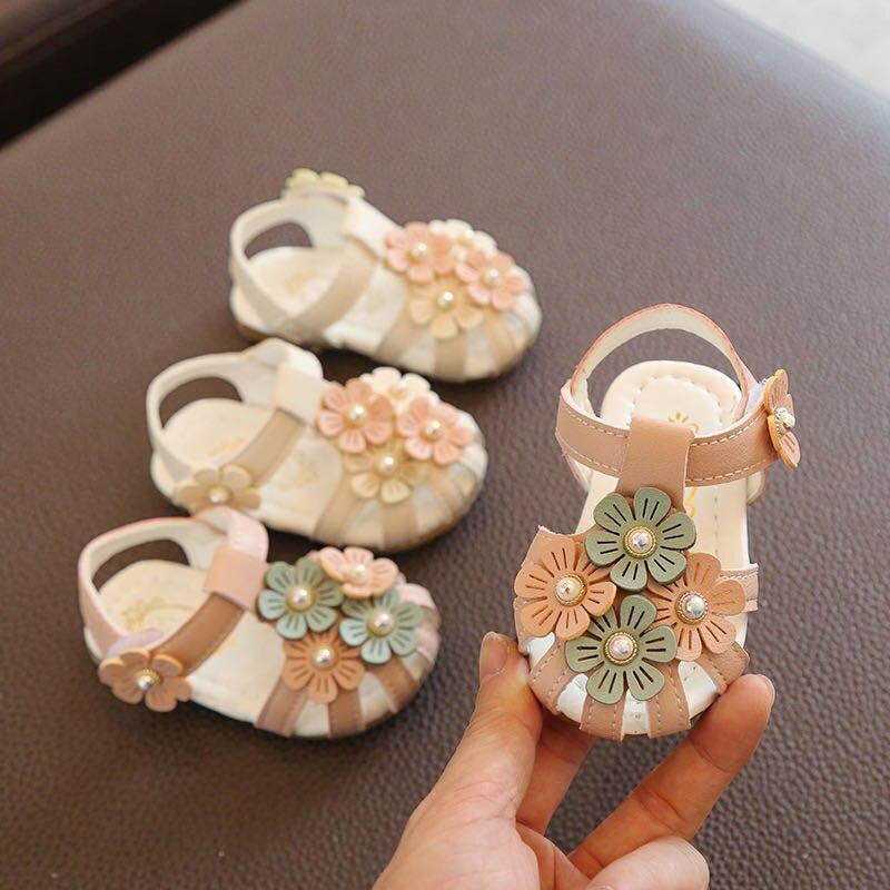 Verão 2020 novas sandálias menina fundo macio