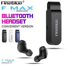 Fineblue F MAX мини-наушник bluetooth TWS настоящая Беспроводная стереогарнитура Для iphone 11 xiaomi Беспроводные наушники с зарядным устройством