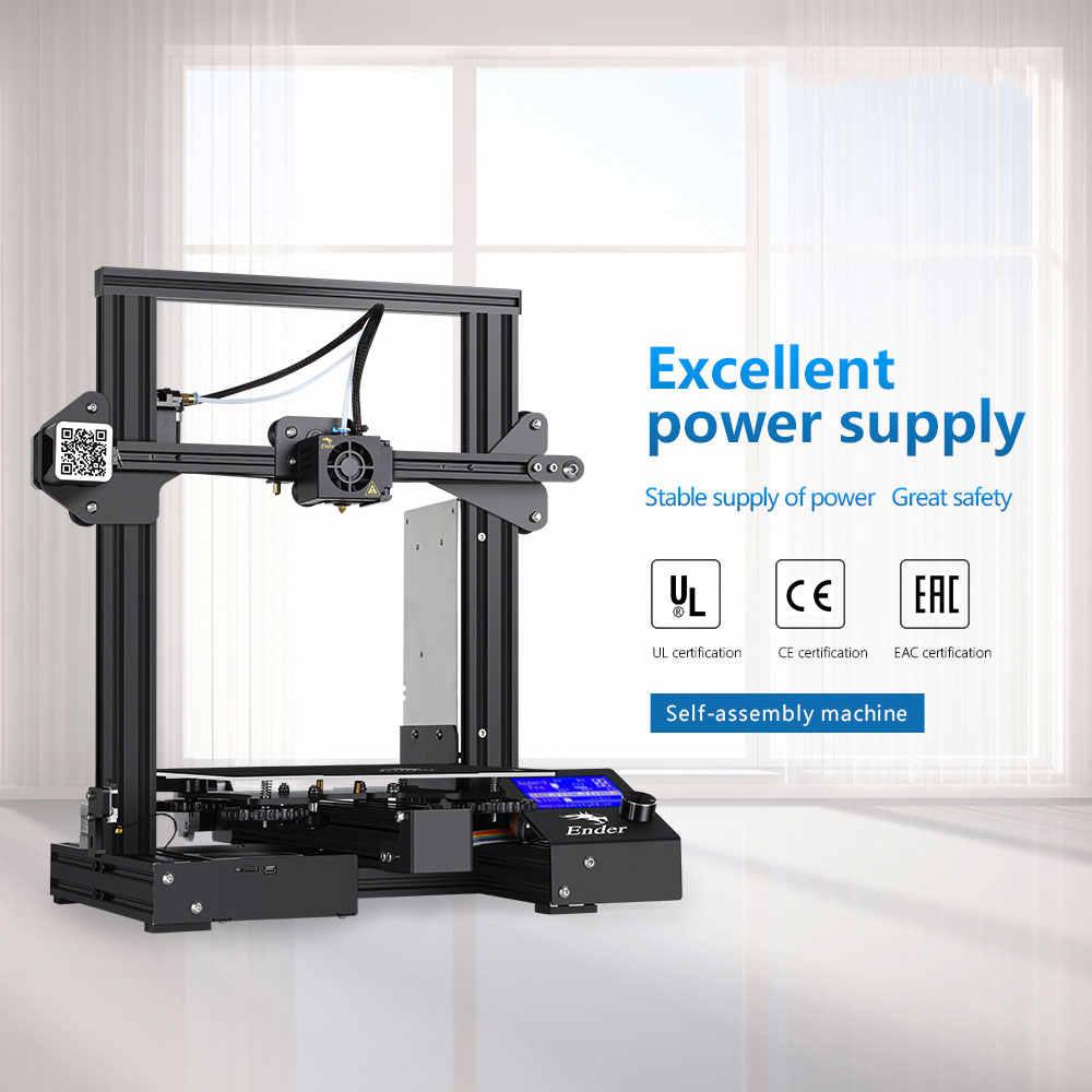 Crealité Ender 3 Pro imprimante 3D avec plaque de Surface de construction amovible et alimentation certifiée UL 220x220x250mm bricolage ménage
