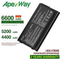 Apexway bateria de laptop 4400mah 11.1v 6  para asus A32-F5 x50v x50vl x59 x59sr f5 f5v f5 f5ri f5sl f5sr x50r x50rl x50sl x50sr