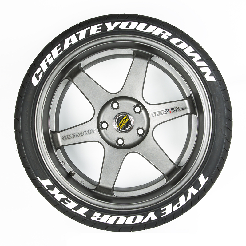 Skyeo Custom Tyre Beletteringen Sticker 1/0.75 Inch Hoogte Car Stickers Decals 3D Logo Labels Auto Motorfiets Diy Label Letters