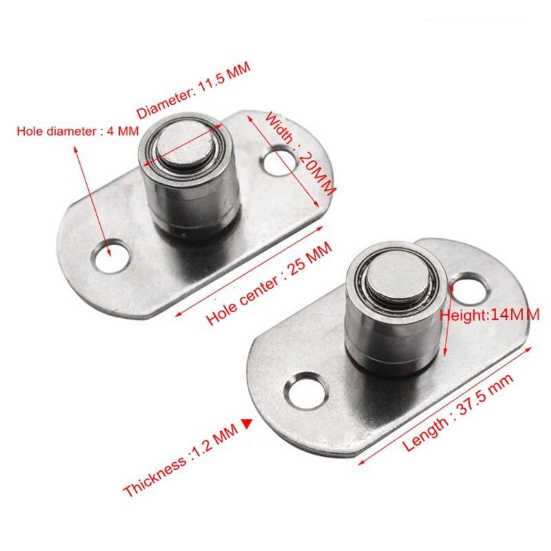 Маленькие роликовые напольные аксессуары направляющая дорожка закрытые раздвижные двери сарая пробка для направляющая раздвижная дверь оборудование с подшипником
