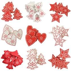 New Year 2020 Christmas Snowflake Wooden Pendant Xmas Tree Decorations for Home Wood Hanging Crafts Navidad 2019 Noel Natal Deco 1