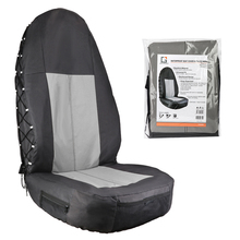 Waterproof Universal Oxford Car Bucket Seat Cover Multi Pockets Organizer Storage High Back Seat Protector