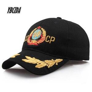 Бейсболка унисекс CCCP в русском стиле, черная, красная хлопковая бейсболка с 3D вышивкой, лучшее качество, шляпа папы костяная 2019