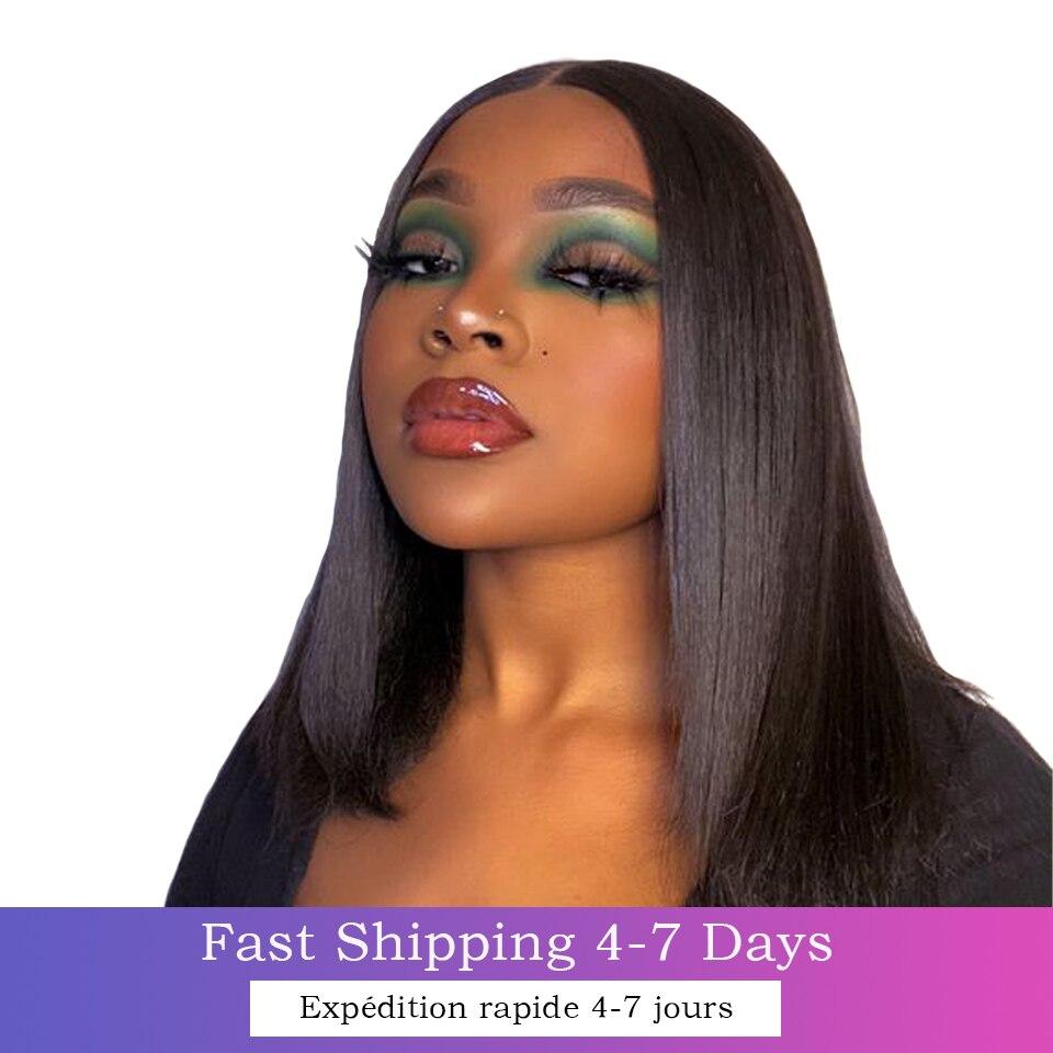 13x4 frente do laço perucas de cabelo humano pré arrancadas em linha reta peruca frontal do laço peruca 4x4 fechamento do laço peruca frontal do cabelo brasileiro
