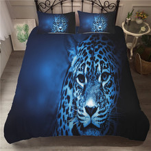 A Bedding Set 3D Printed Duvet Cover Bed Leopard Home Textiles for Adults Bedclothes with Pillowcase #BZ05