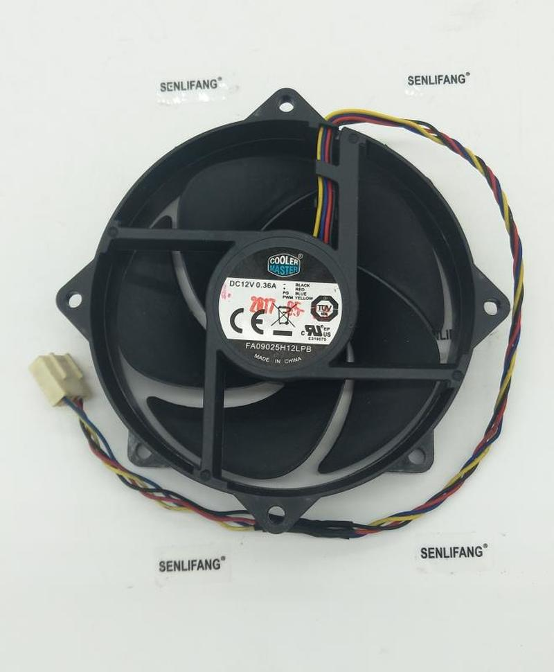FOR Authentic 9025 9CM 12V 0.36A FA09025H12LPB Circular CPU Fan 4-wire Temperature Controlled Mute Fan
