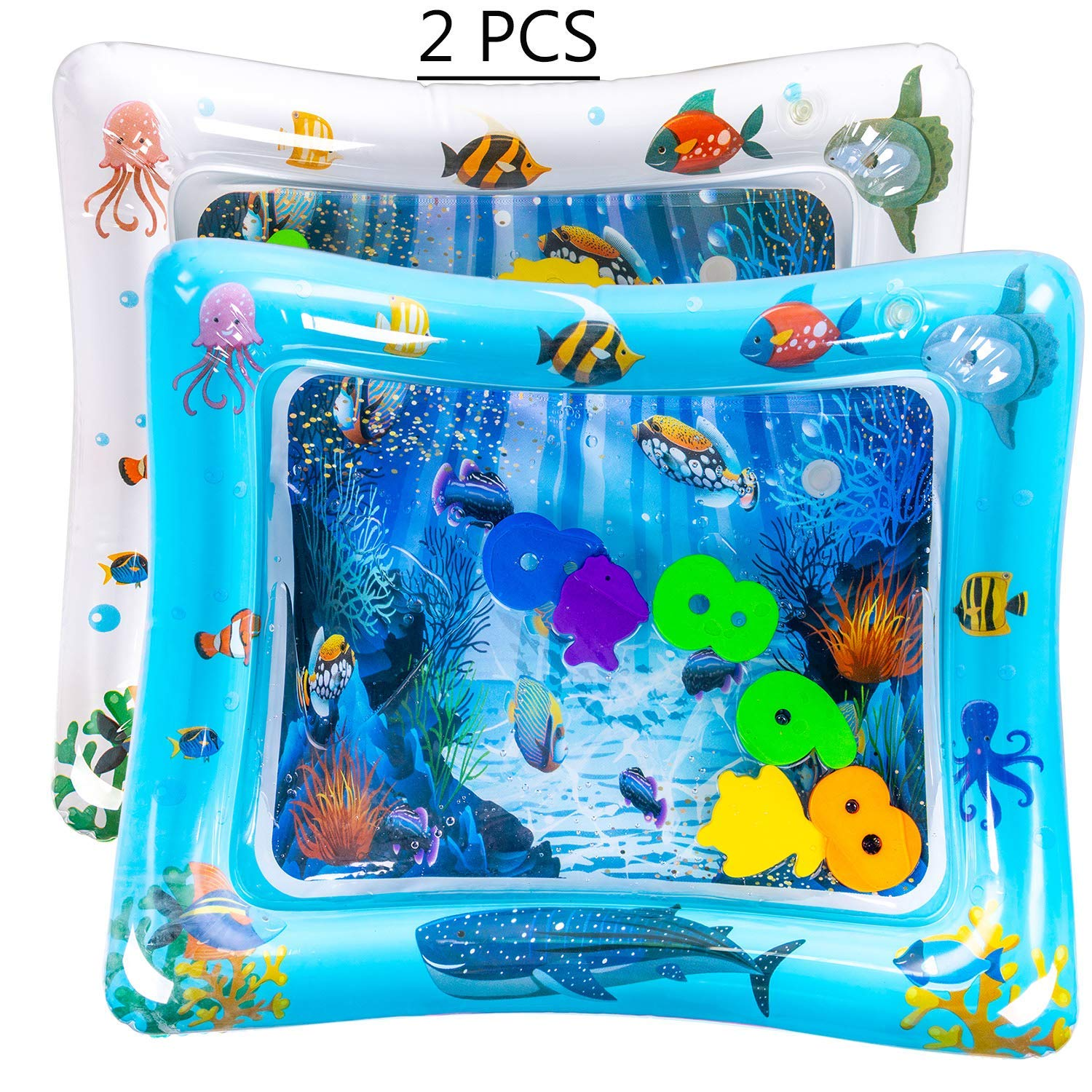 Tummy Time Inflatable Water Play Mat Playmat Sensory Activity Toy For Infant Toddlers Baby Girl/Boy 3 To 18 Months Old