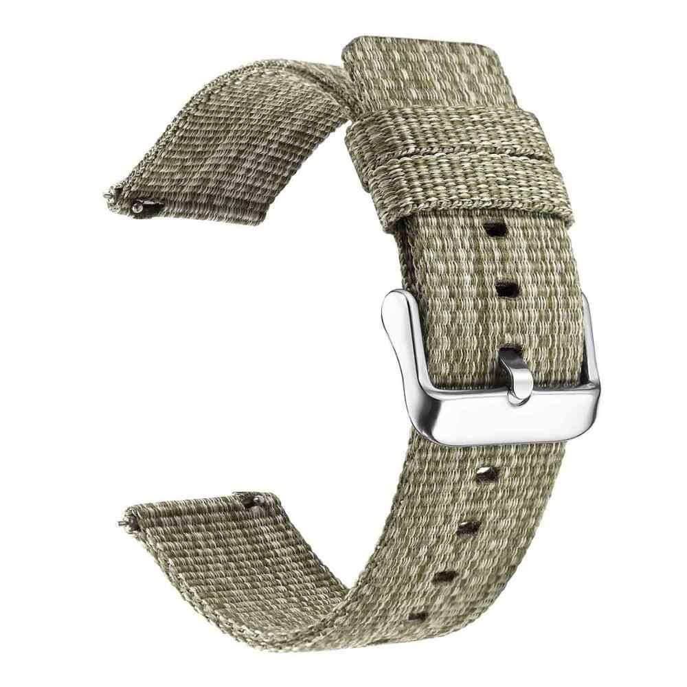 Moda otan relógio banda cinta de náilon para samsung galaxy 42 46 active assista engrenagem s3 clássico samsung pulso 20mm esporte cinta tecida