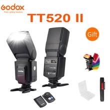 Godox TT520 II Flash TT520II mit Build in 433MHz Drahtlose Signal w Farbe Filter Kit für Canon Nikon pentax Olympus DSLR Kameras