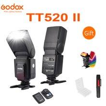 Godox TT520 II Flash TT520II z wbudowanym sygnałem bezprzewodowym 433MHz w filtr kolorów zestaw do aparatów canon Nikon Pentax Olympus lustrzanki cyfrowe