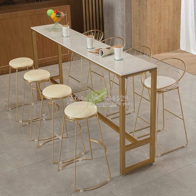38% Европейский Стиль Железный арт табурет де Бар Современный барный стул барная мебель Dotomy мебель для салона красоты Железный арт