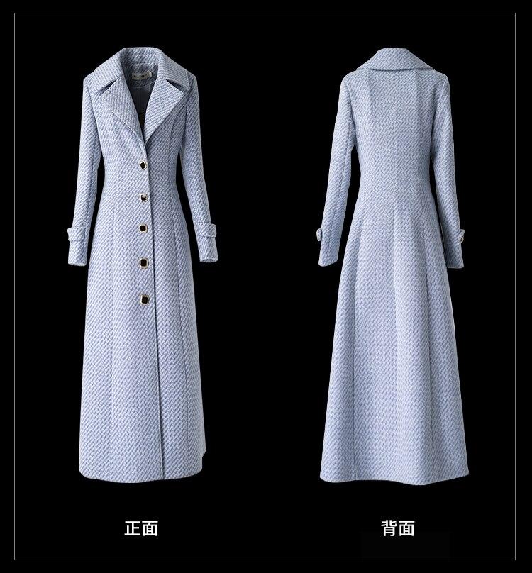 único-breasted turndown collar magro plus size feminino casaco