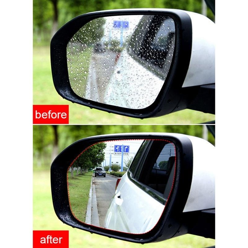 2PCS Car Rear View Mirror Rainproof Film Side Window Rainproof  Reversing  Full Screen Anti-fog Nano Waterproof Film Accessories