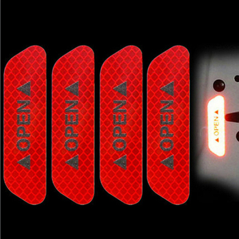 Warning Mark Reflective Tape Car Door Stickers for BMW E46 E39 E60 E36 E90 F30 F10 X5 E53 E70 E30 E34 image