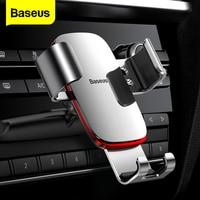 Baseus-Soporte de teléfono para coche, base de gravedad para ventilación de aire, montaje de Clip para iPhone, Samsung, Redmi