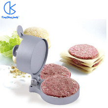 Big Size Cast Aluminum Alloy Manual Hamburger Press Meat Beef Grill Burger Press Patty Maker Mold FDA Kitchen Tools zica 5inch 130mm manual hamburger press burger forming machine round meat shaping aluminum machine forming burger patty makers