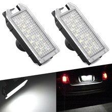 AUXITO-luz de LED para placa de matrícula trasera para coche Fiat, lámpara de placa de matrícula trasera, sin Error, 2x, para Fiat 500 2007-2019 500C 2009-2019
