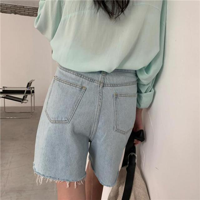 Genayooa Streetwear Biker Shorts Women Korean Style 2021 Summer Cotton Denim Shorts Jeans High Waist Cool Short Feminino Chic 6