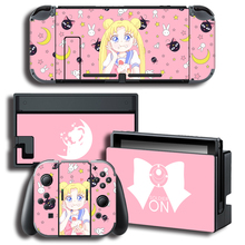 Vinyl Bildschirm Haut Aufkleber Anime Sailor Moon Skins Protector Aufkleber für Nintendo Schalter NS Konsole + Controller + Stand Aufkleber